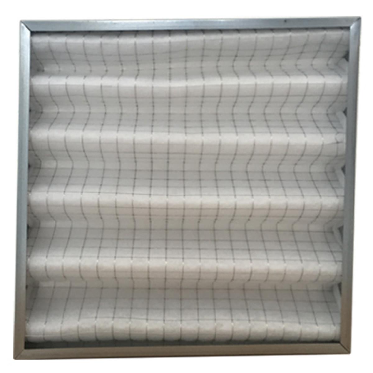 Filtro cella ondulata sintetica doppia rete acciaio spessore 48 mm 287x592