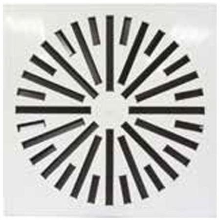 Diffusore da Soffitto Quadrato SFWM-F 24 Feritoie 500/596x596 - Bianco RAL 9016
