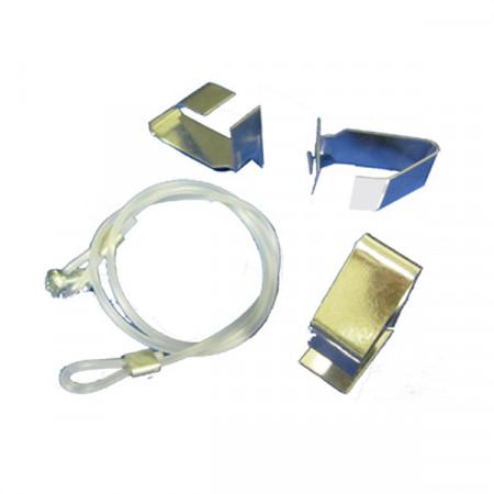 Kit 3 Clips di Fissaggio + Cavetto di Sicurezza per Diffusori Circolari DAV ø 160 mm