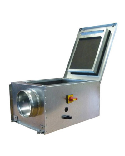 Cassone di Ventilazione Silenziato Silens Air ECM ? 125 mm con Raccordi Circolari