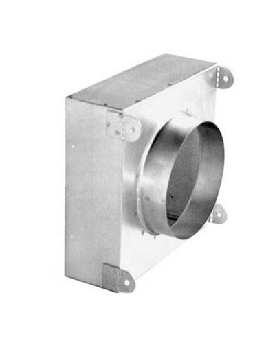 Plenum di Raccordo PFU40 150x150 ø 125 mm in Acciaio Zincato per Diffusori DAU/DAP
