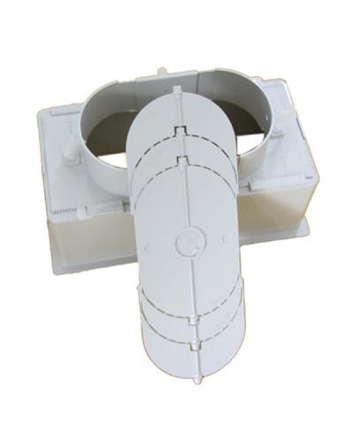 Plenum PPS20IT 200x100 mm con Serranda per Griglie e Bocchette GAC21IT/GLC20AIT/GPC21IT