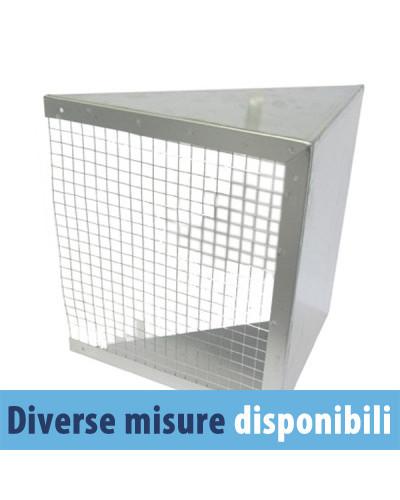 Cuffia Espulsione con Rete CER 7/7 per Ventilatori Centrifughi FVD18/FVDE18