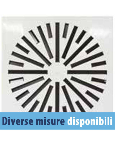 Diffusore da Soffitto Quadrato SFWM-F 8 Feritoie 300/596x596 - Bianco RAL 9016