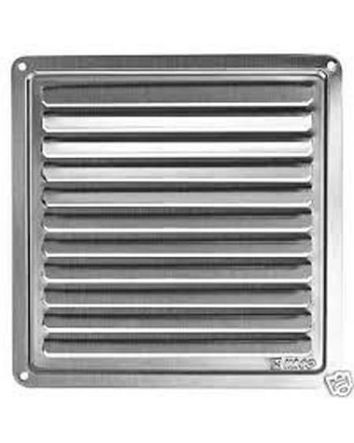 Griglia di aerazione in metallo quadrata GS 150x150 mm - Alluminio anodizzato argento