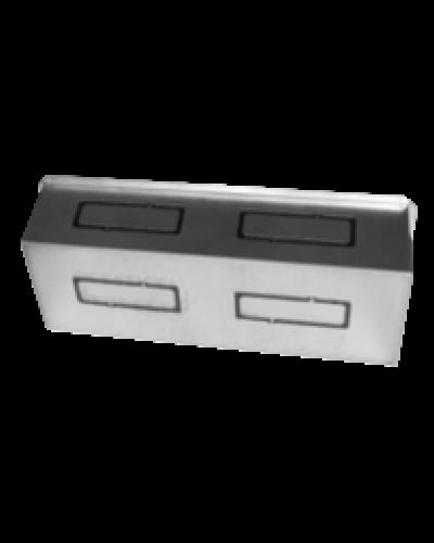 Bocchetta Portagriglia da Incasso PG4 P-L 132x52 mm per Griglia Tamigi2