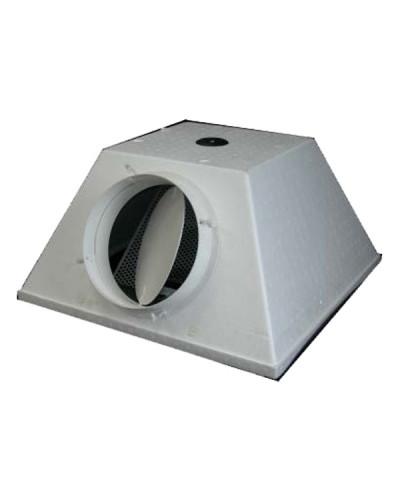 Plenum Trapezoidale SFW-PL 596x596 ø 250 mm + Serranda ed Equalizzatore in ABS